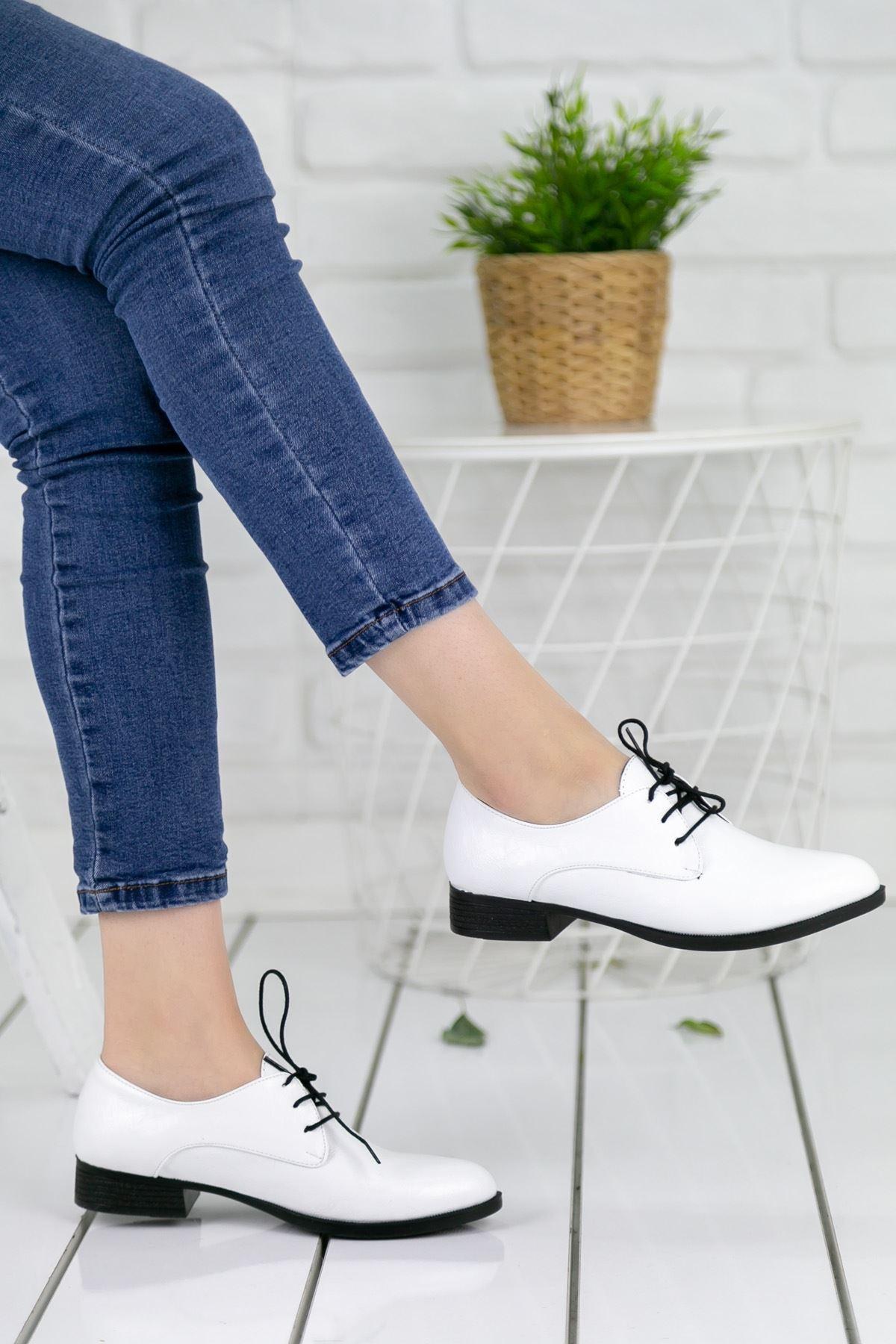 Suzzy Ortapedik Beyaz Bayan Ayakkabı
