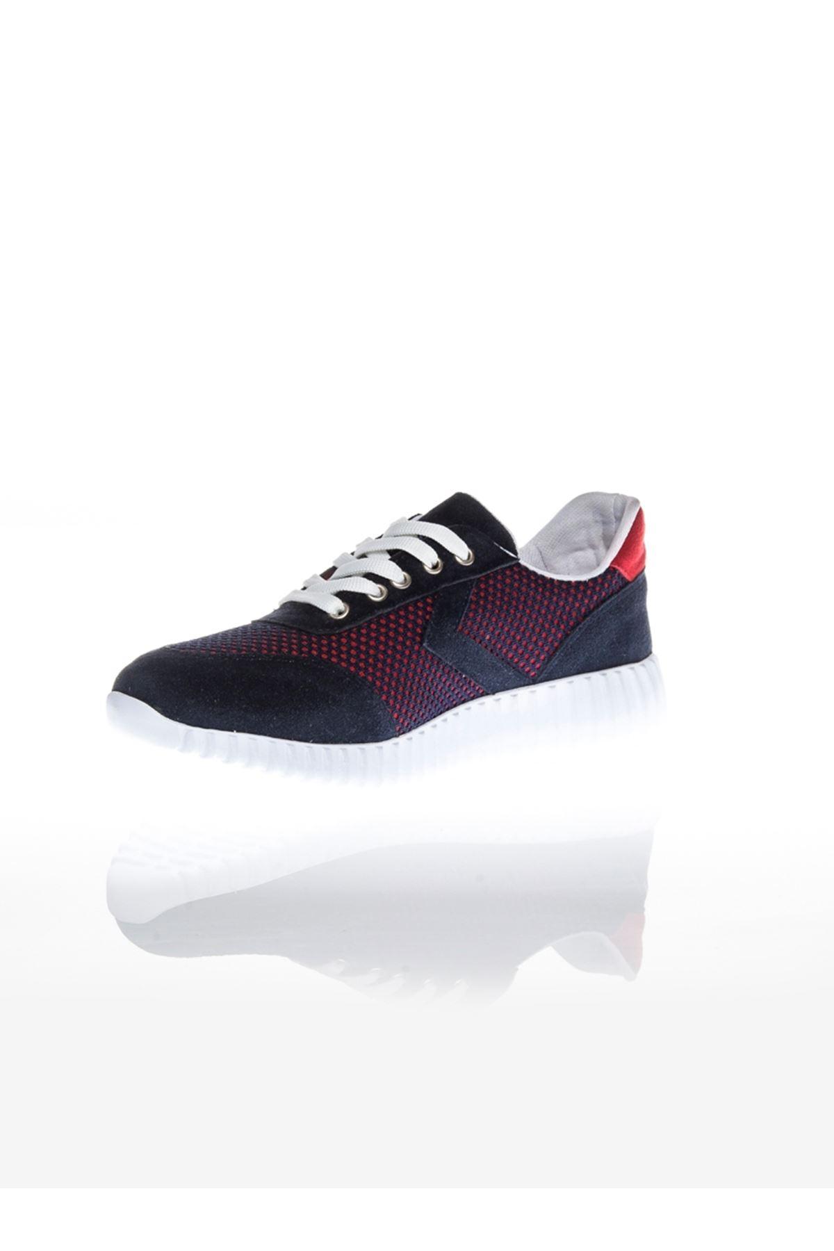Pair Laci Kırmızı Ortapedik Bayan Spor Ayakkabı