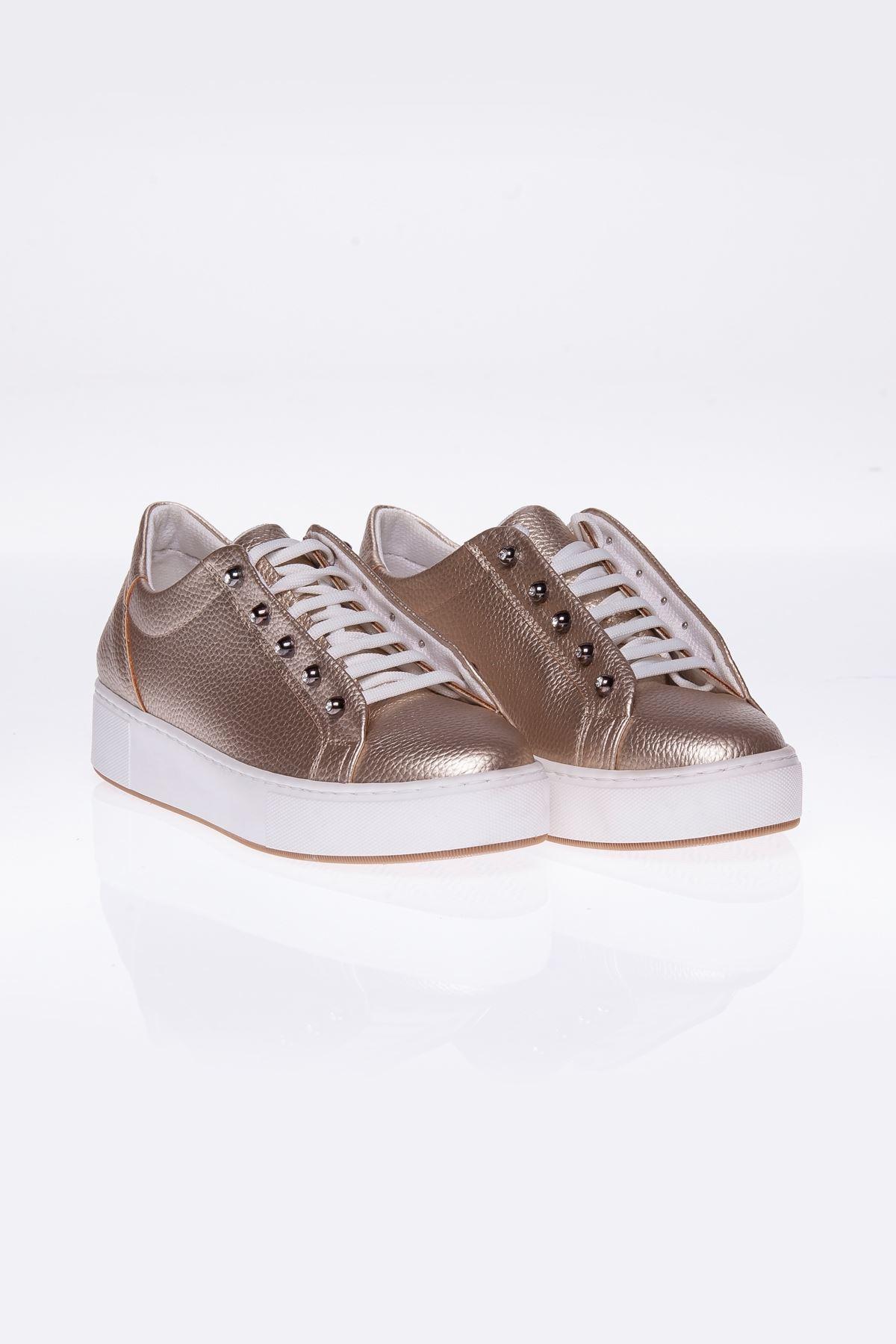 Dora Gold Gizli Bağcıklı Bayan Spor Ayakkabı
