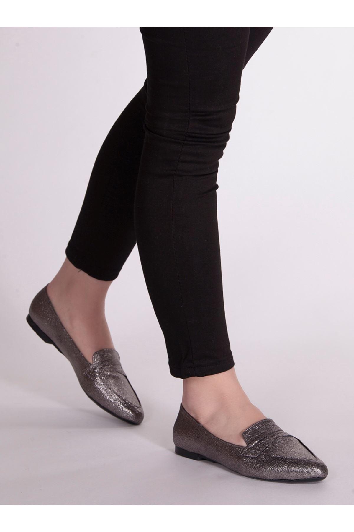 Bella Platin Rahat Günlük Kadın Ayakkabı