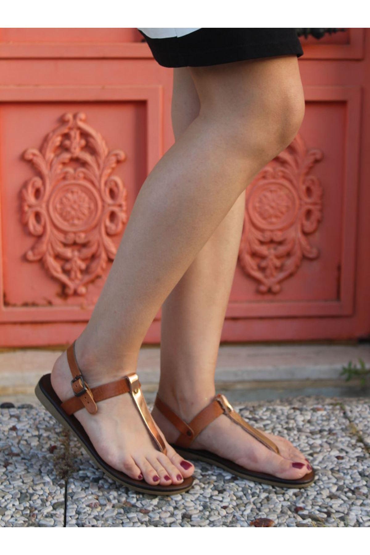 Dailes 102 Hakiki Deri Bayan Sandalet