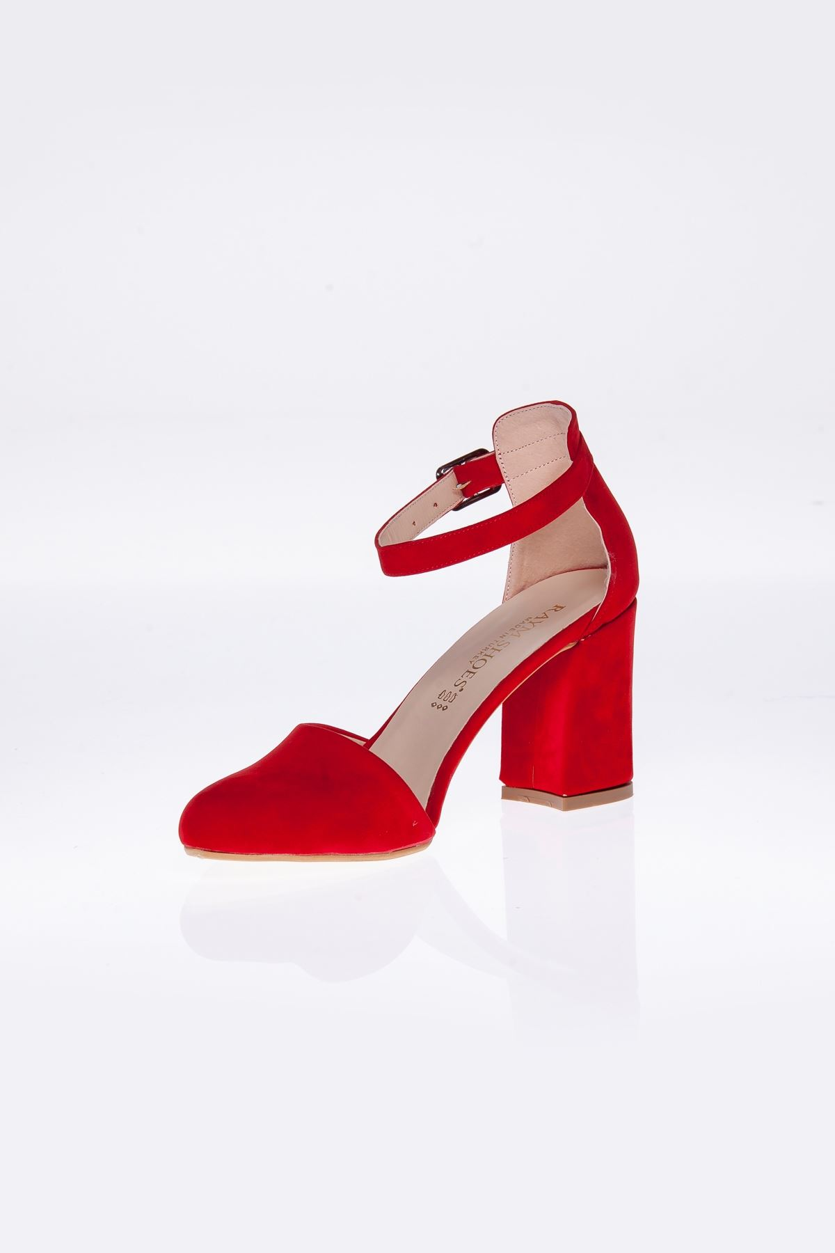 Betty Kırmızı Süet Topuklu Kadın Ayakkabı