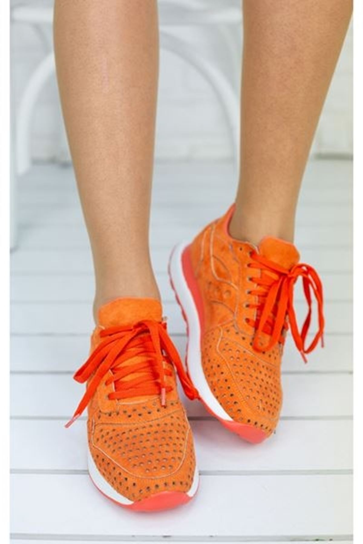 Disa Oranj Ortapedik Bayan Spor Ayakkabı