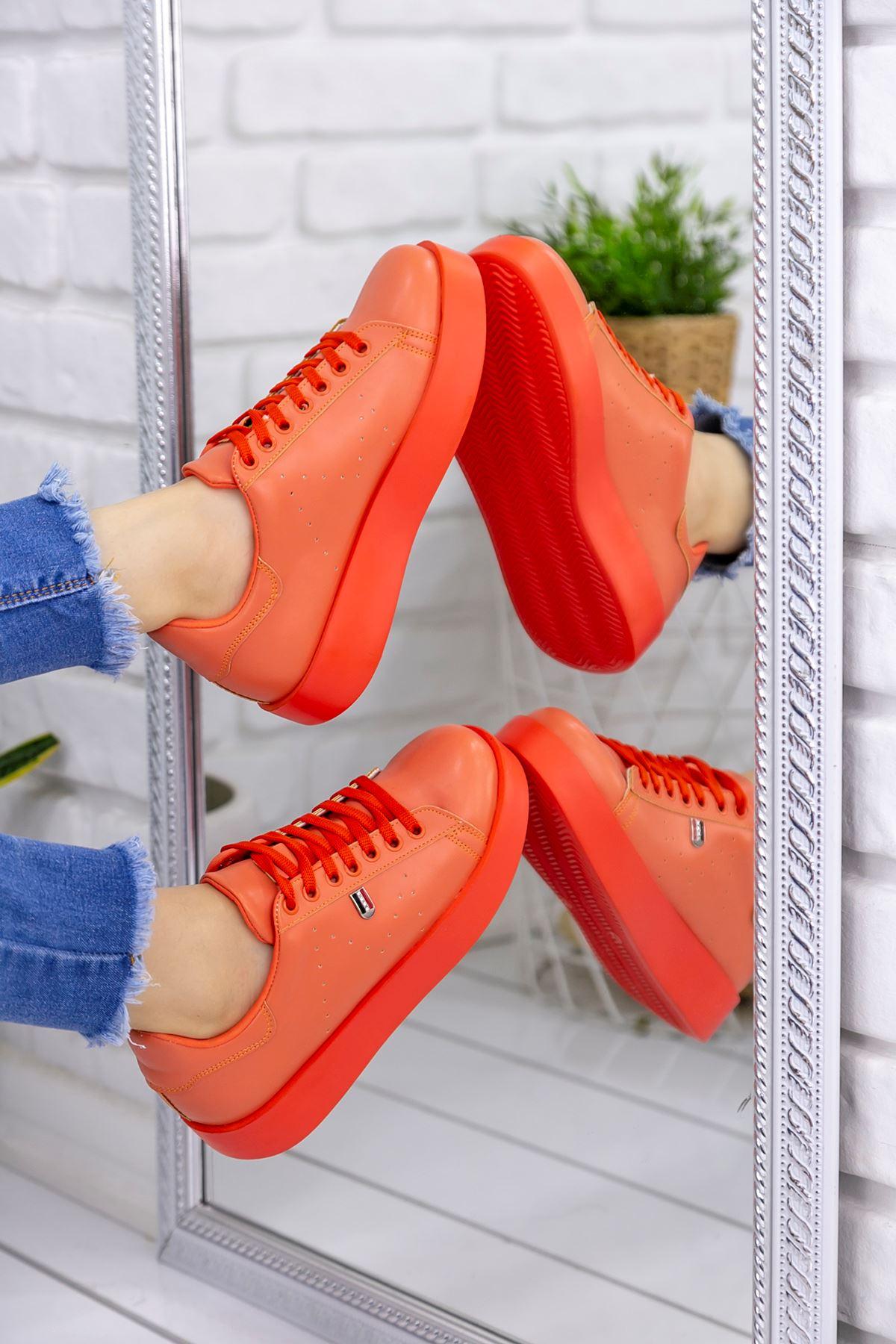 Luis  Oranj Cilt Spor Ayakkabı