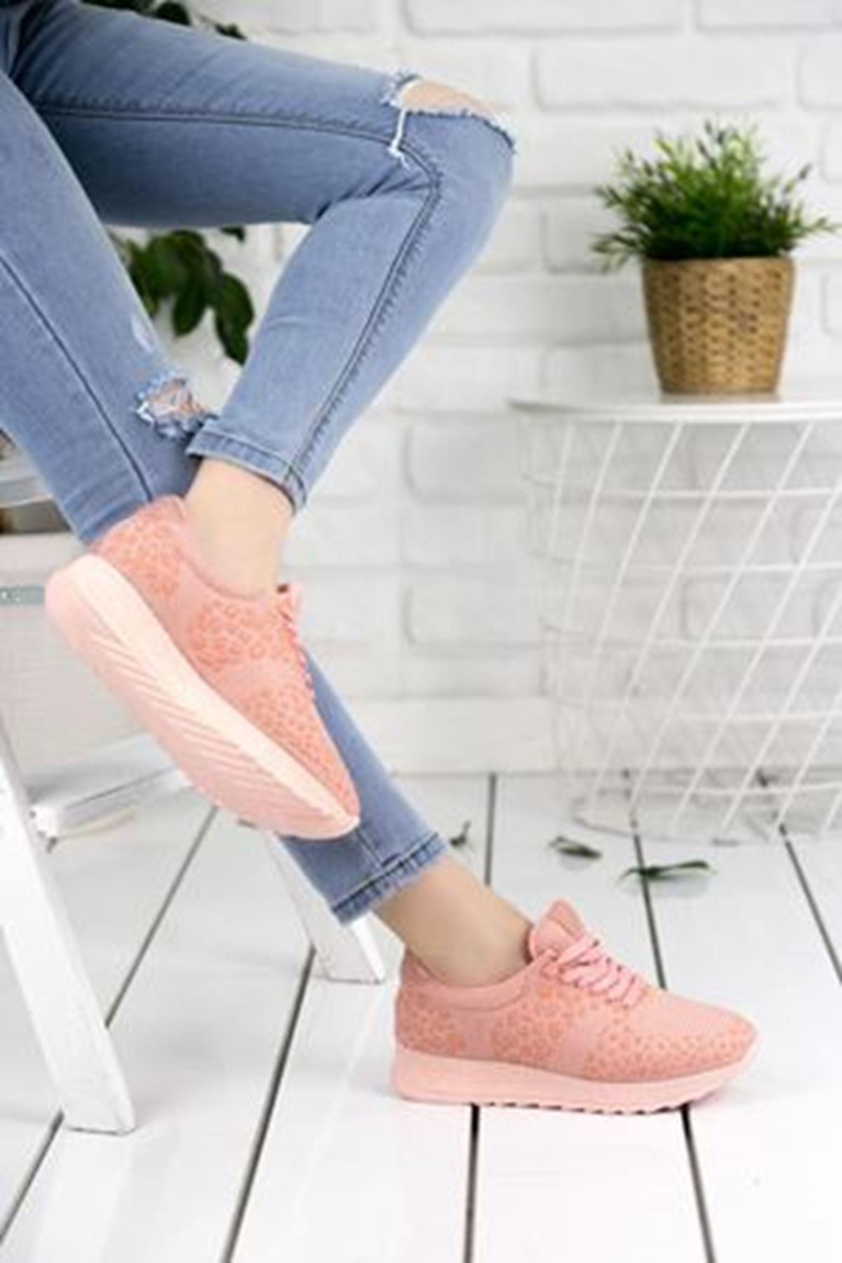 Fancy Pudra Ortapedik Bayan Spor Ayakkabı