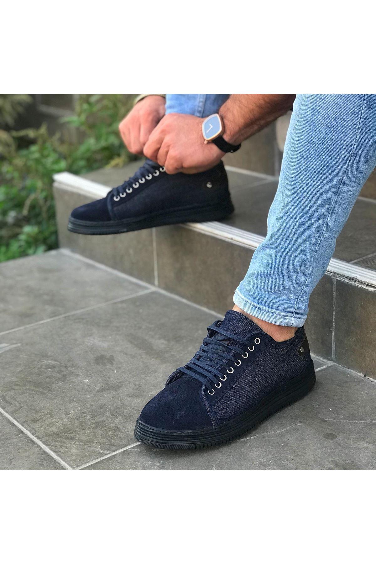 Wolk Kot Kumaşlı Bağcıklı  Erkek Ayakkabı