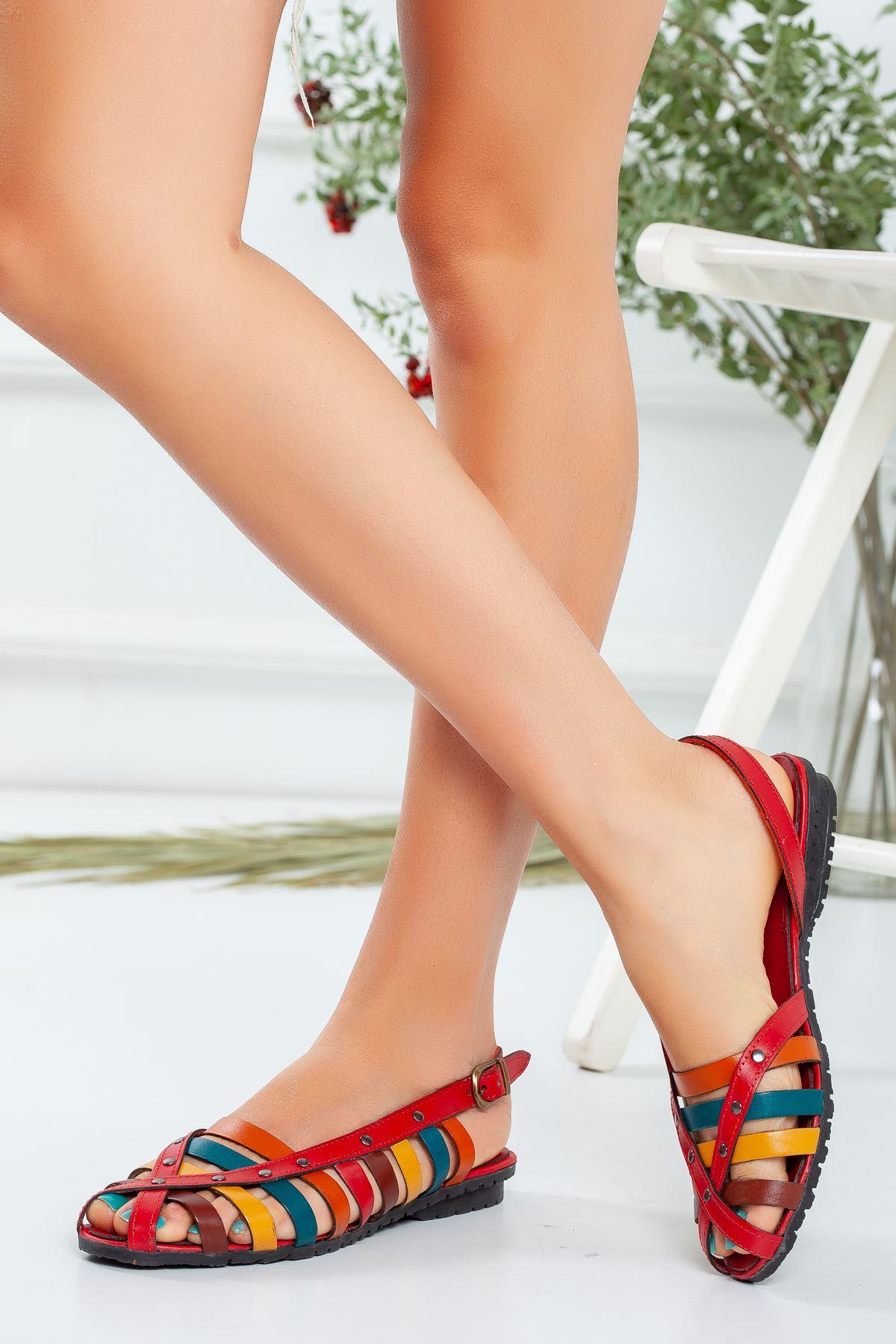 Hiwşa Deri Sandalet 02