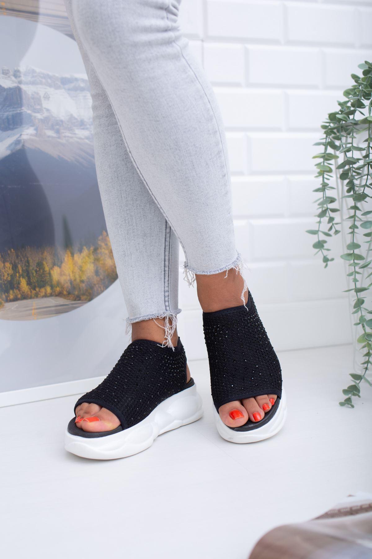 Dido Siyah Triko Bayan Spor Ayakkabı