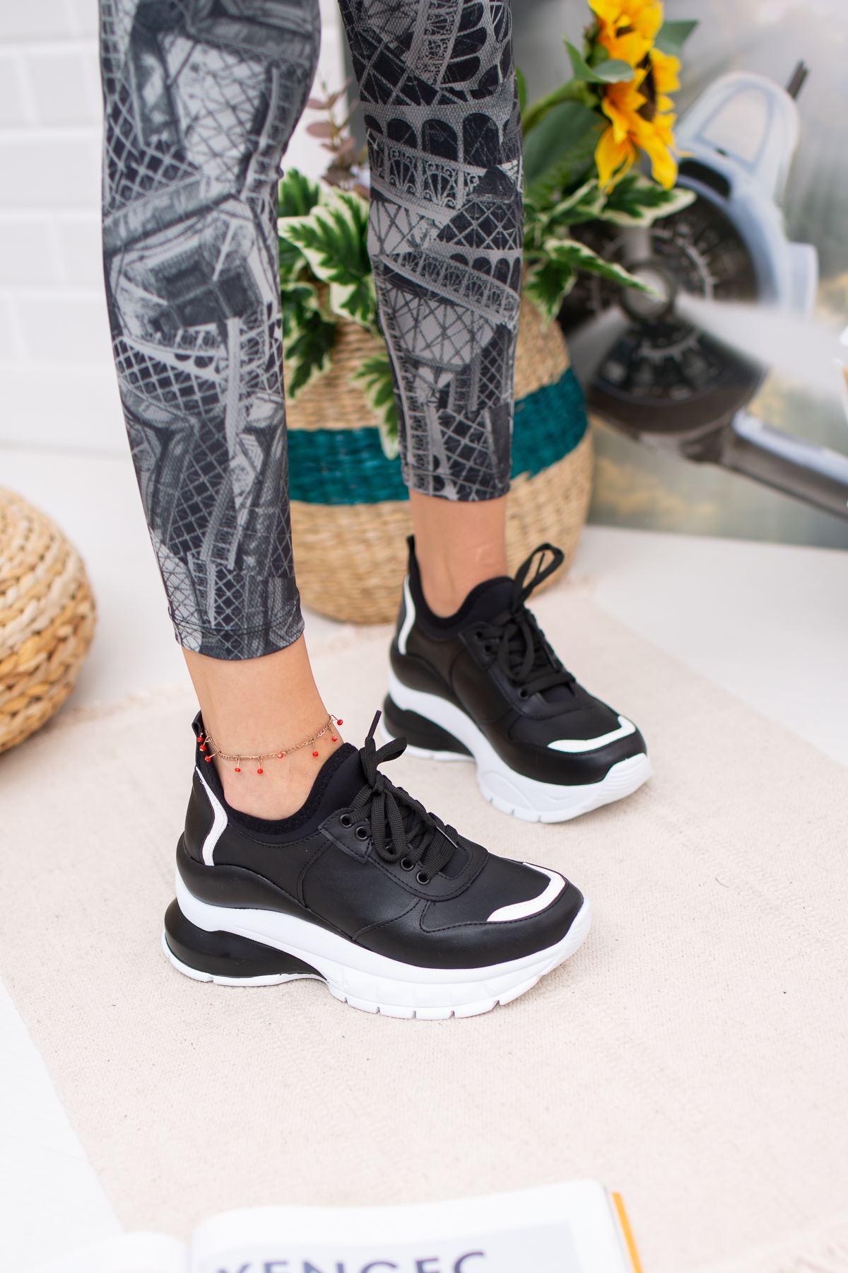 Kayke Siyah Ortapedik Bayan Spor Ayakkabı