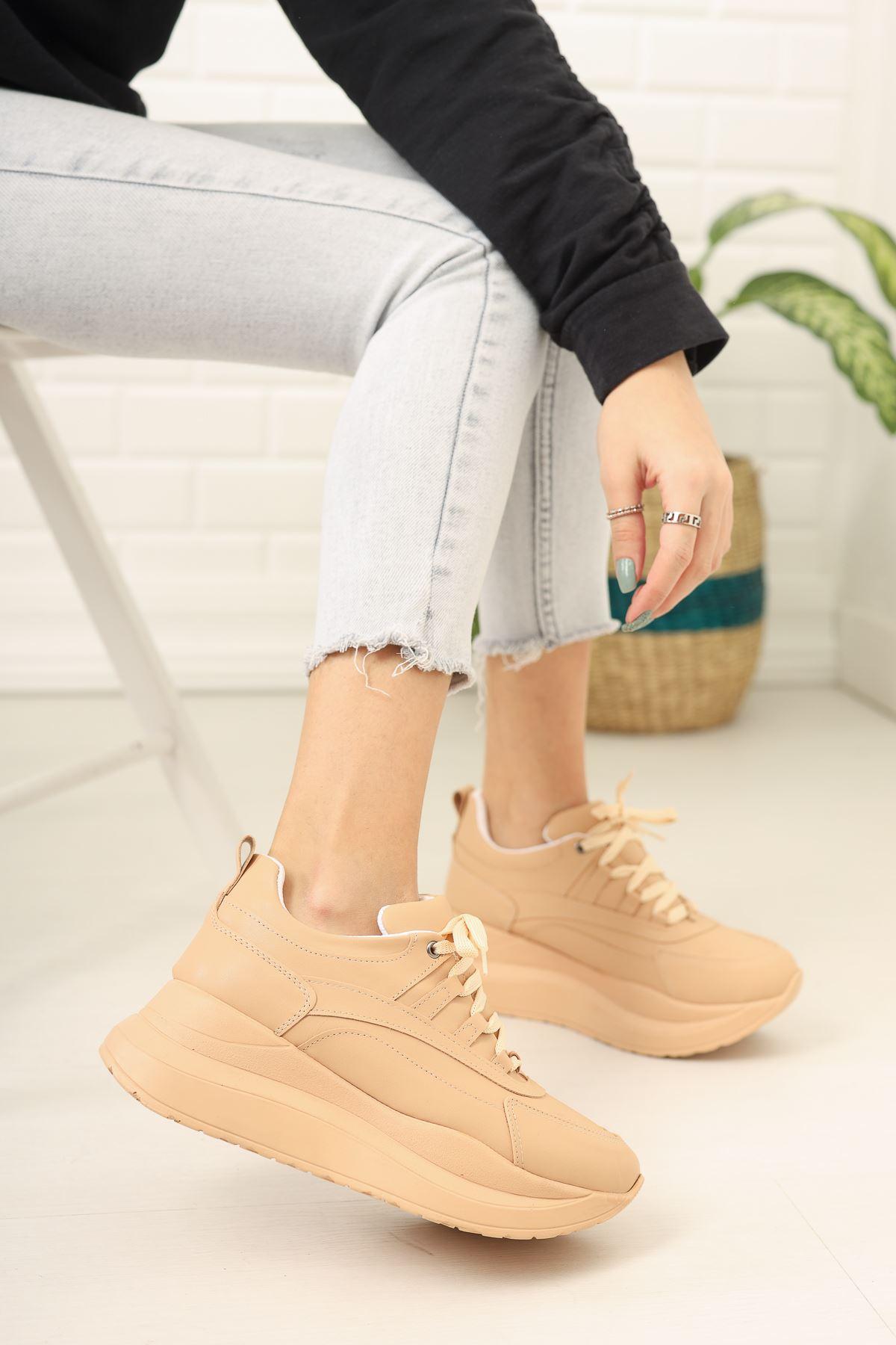 Larisa Yüksek Taban Ortapedik Vizon Bayan Spor Ayakkabı