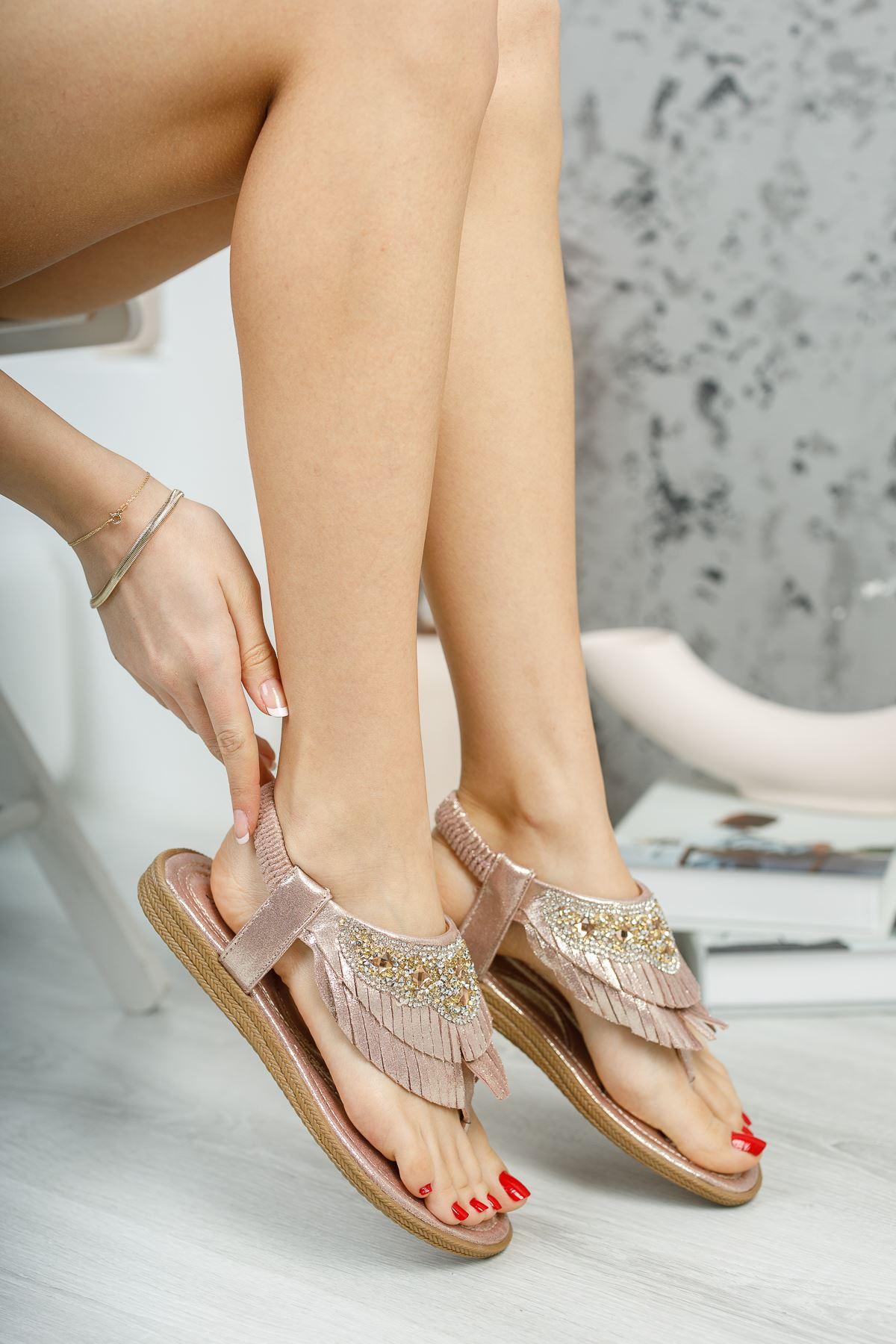 Beybun Pudra Parmak Arası Kadın Sandalet