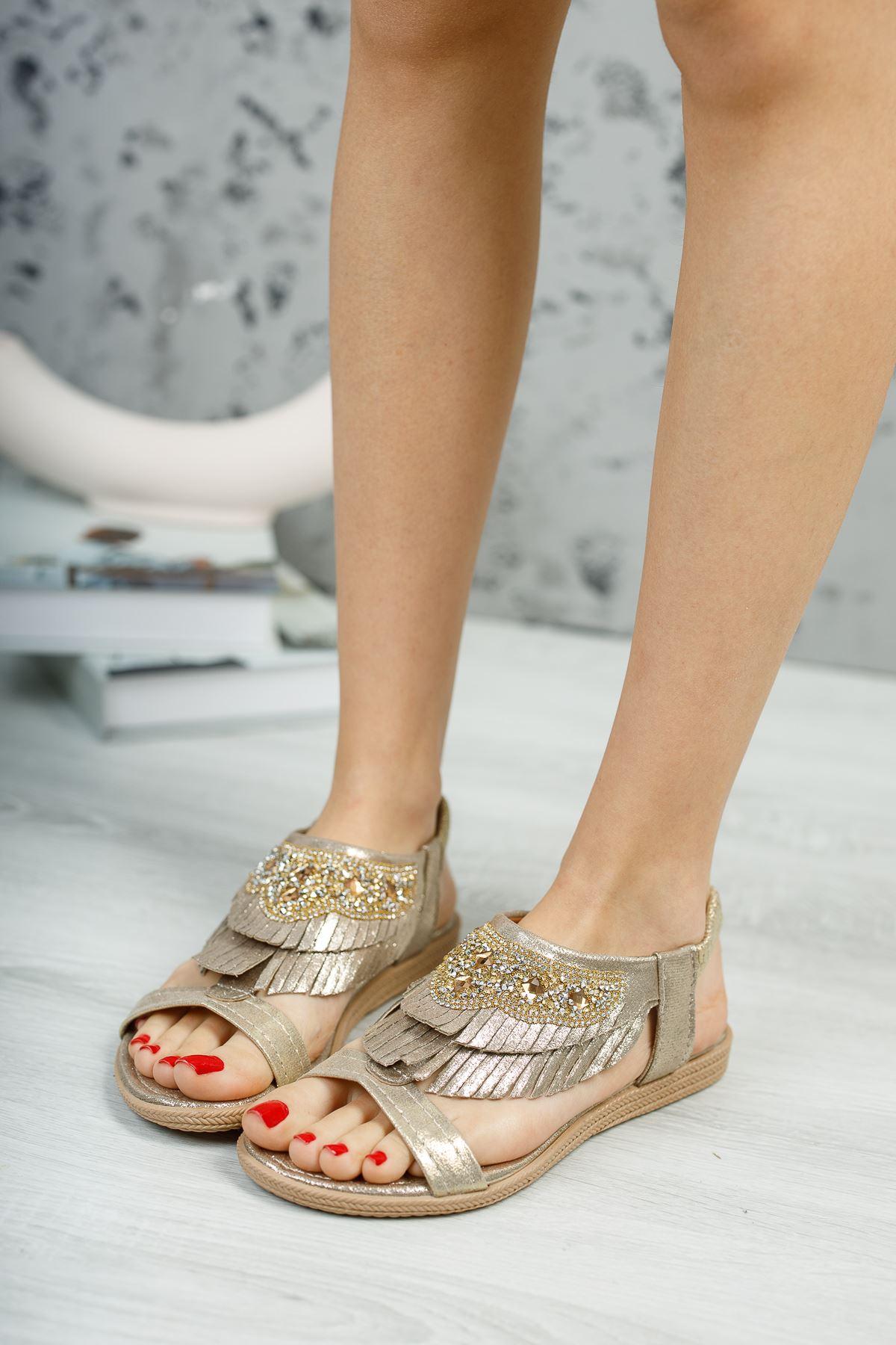 Beybun Gold Kadın Sandalet