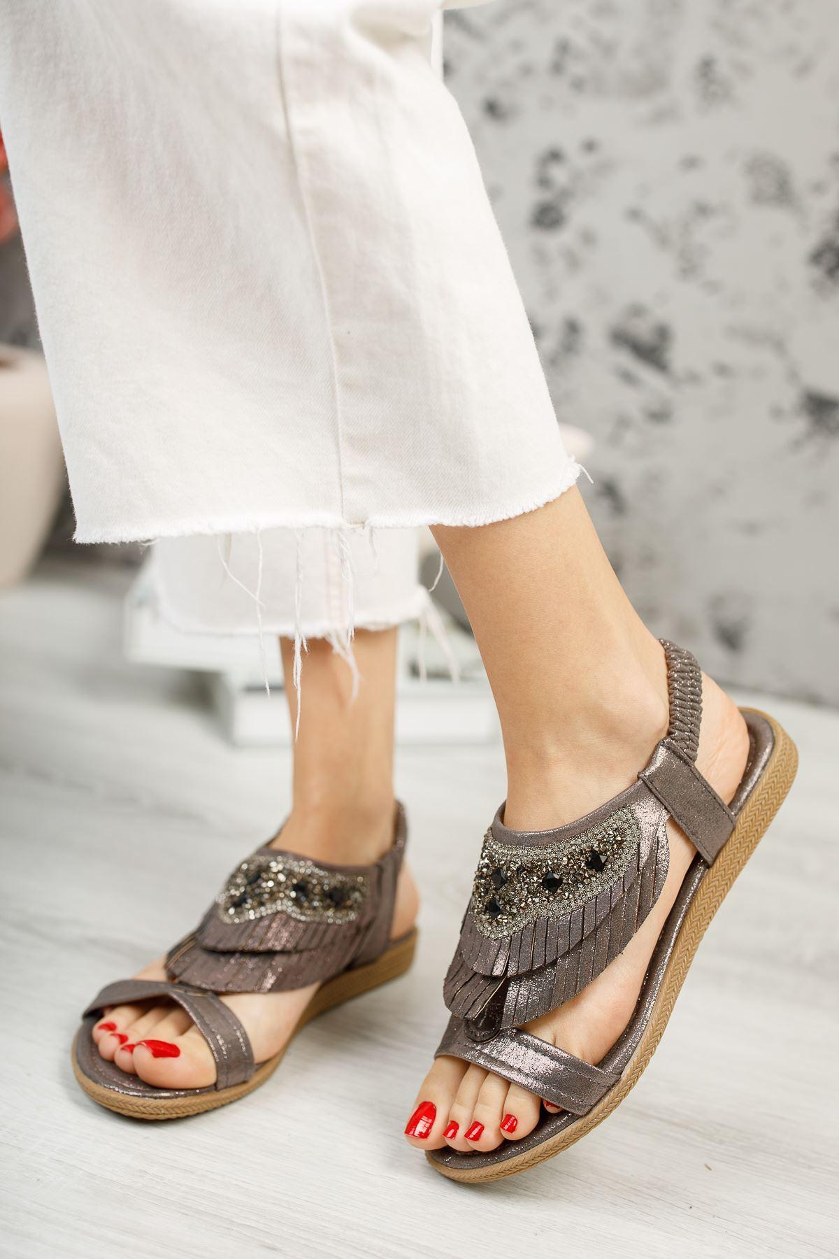 Beybun Bakır Kadın Sandalet
