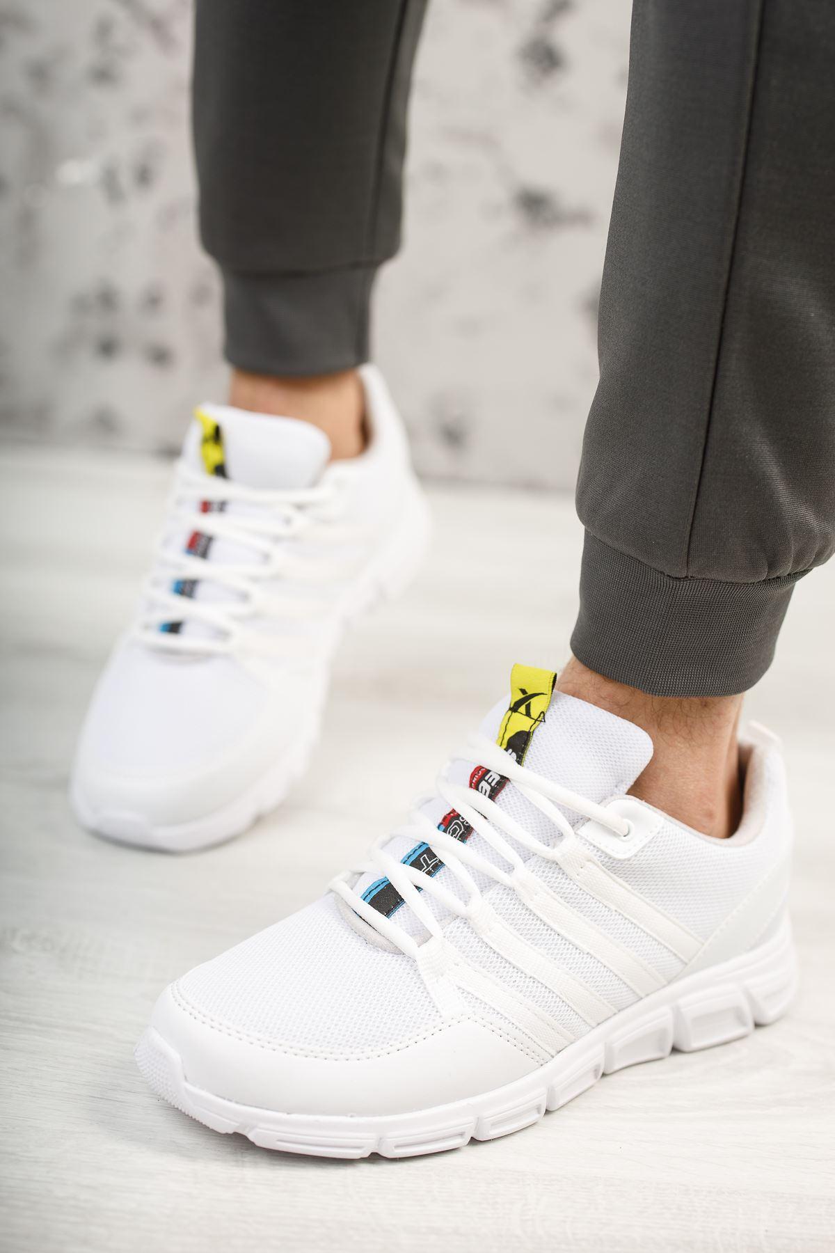 Wawik Beyaz Yazı Detaylı Erkek Spor Ayakkabı