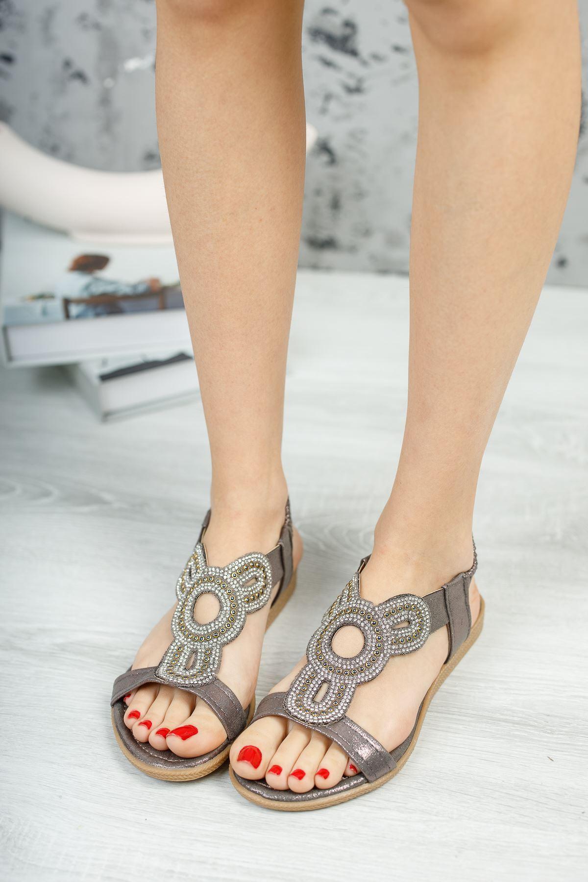 İlon Bakır Kadın Sandalet