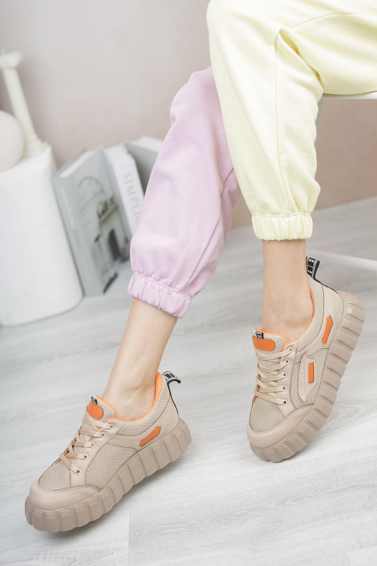 Hesti Vizon Turuncu  Kadın Spor Ayakkabı