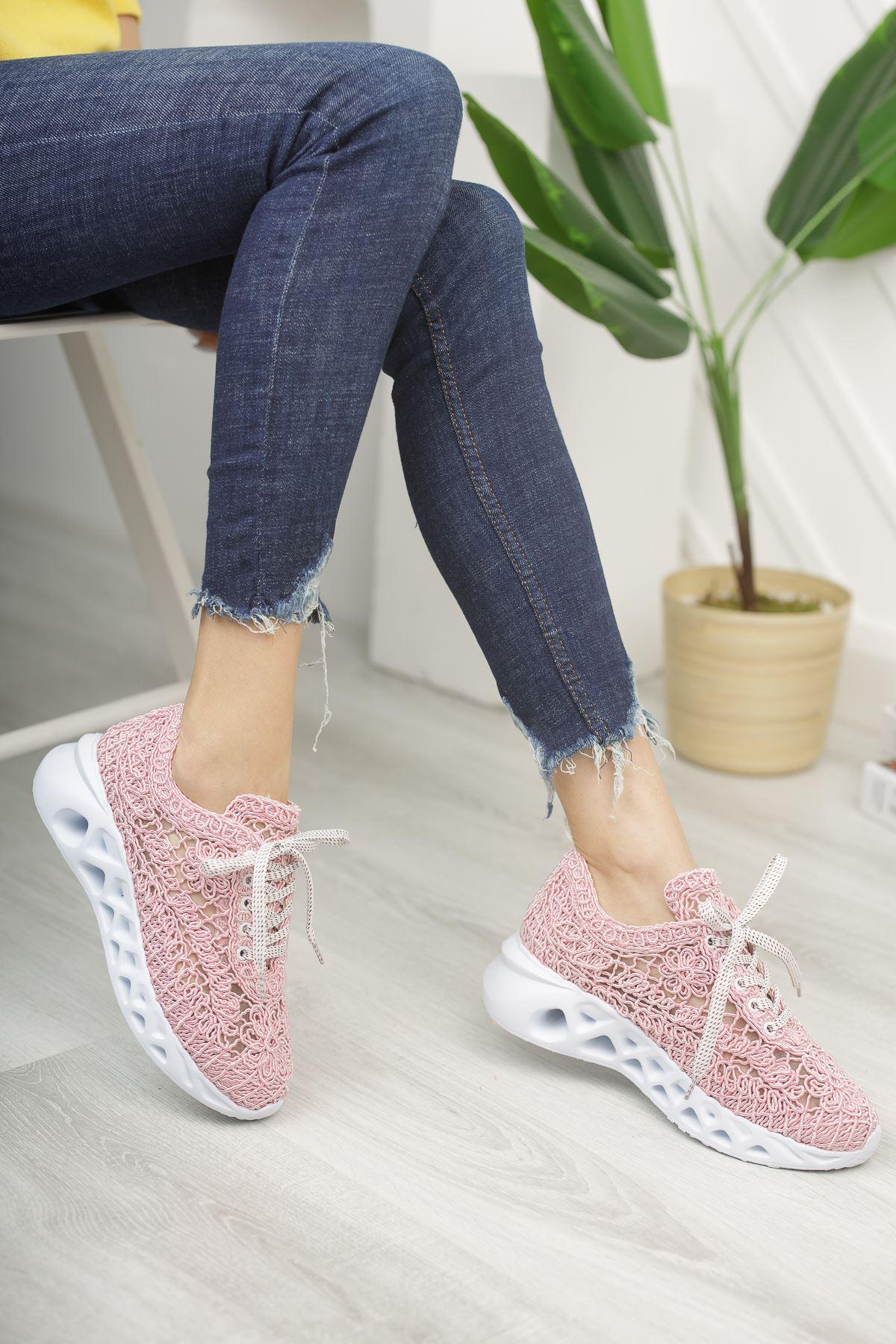 Binevş Pudra Kadın Spor Ayakkabı