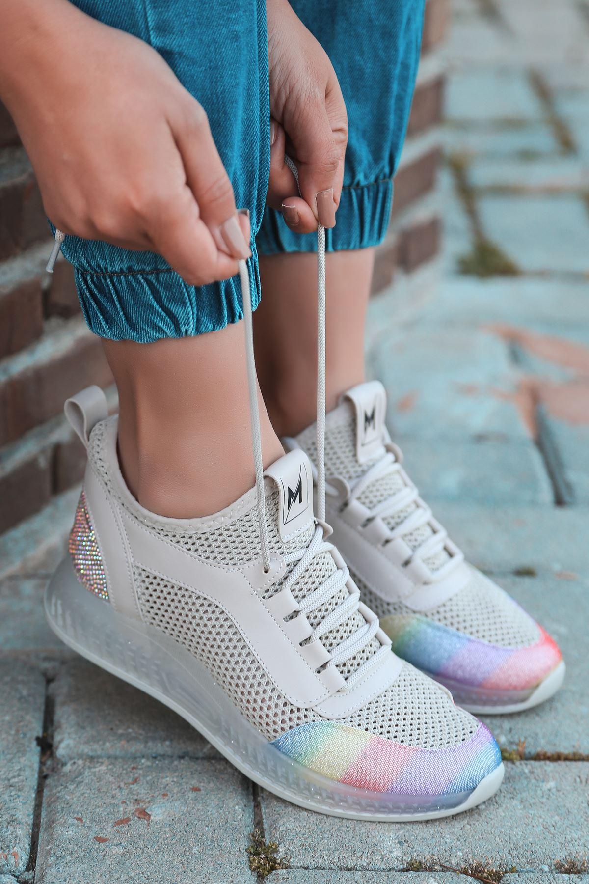 Jenny Vizon Gökkuşağı  Triko Kadın Ayakkabı