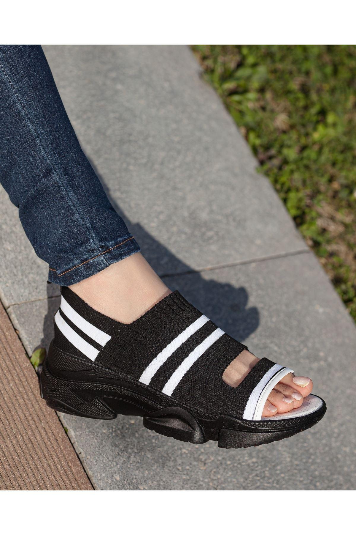 Hera Siyah Triko Bayan Spor Ayakkabı