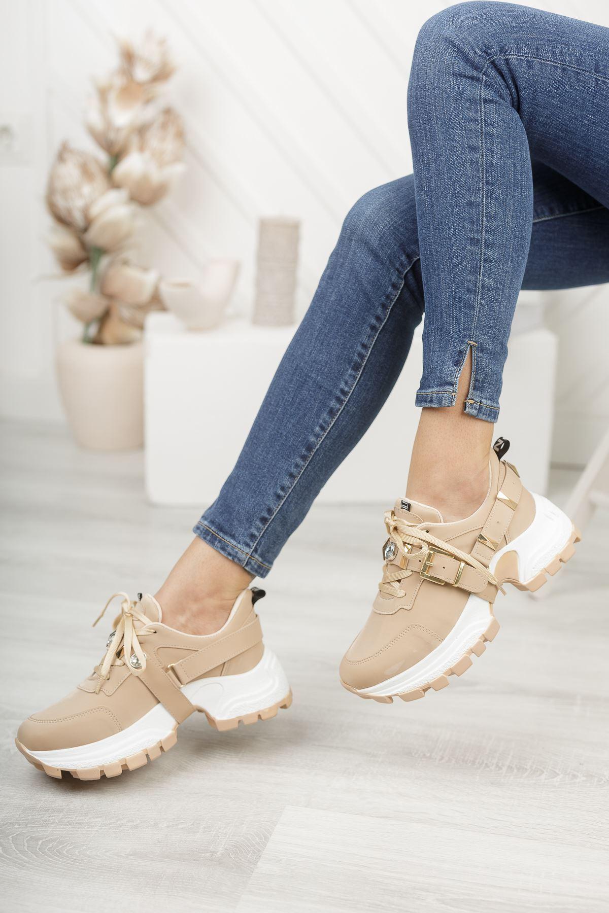 Wego Bej Kadın Spor Ayakkabı