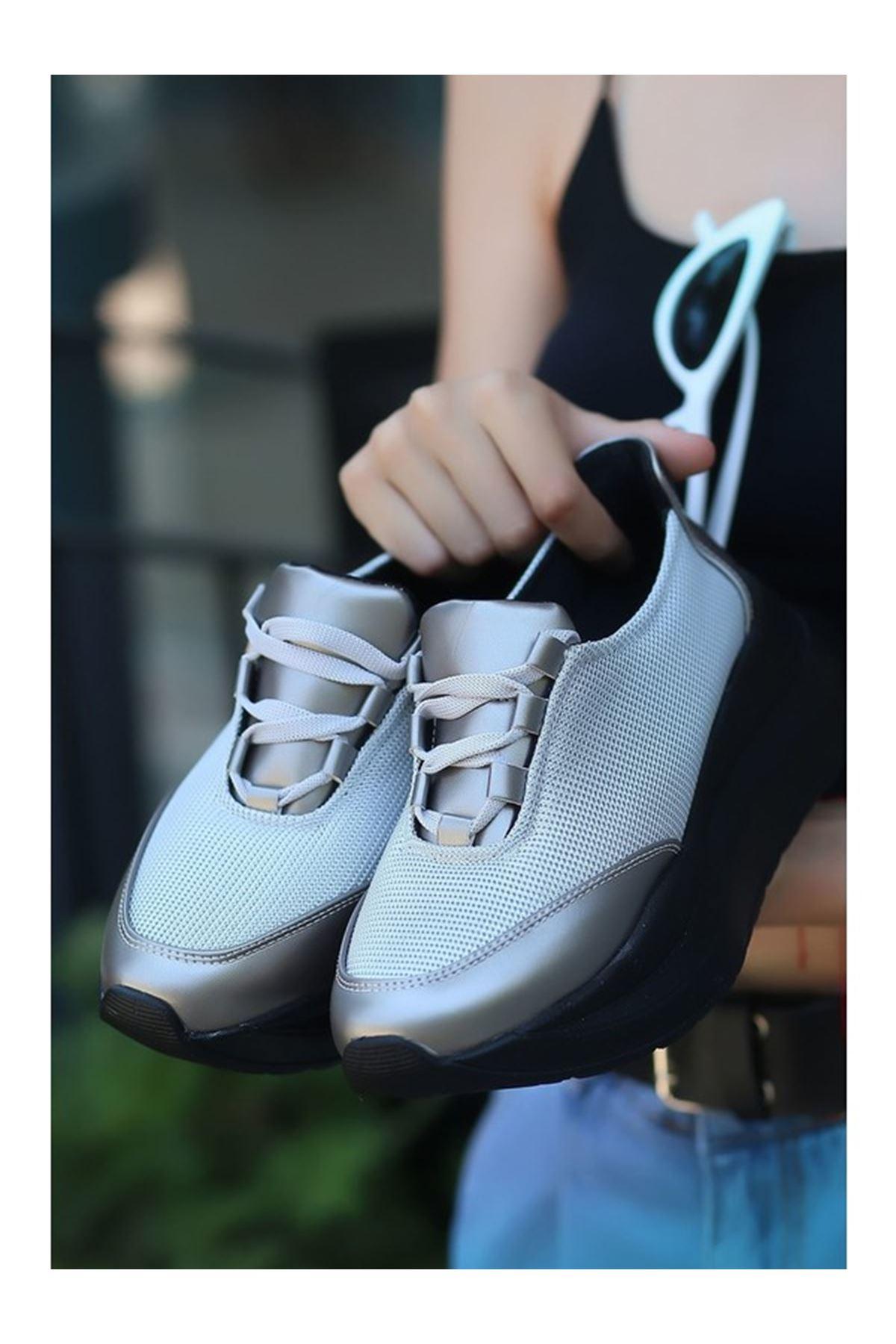 Rojek Gri Topuk Bayan Spor Ayakkabı